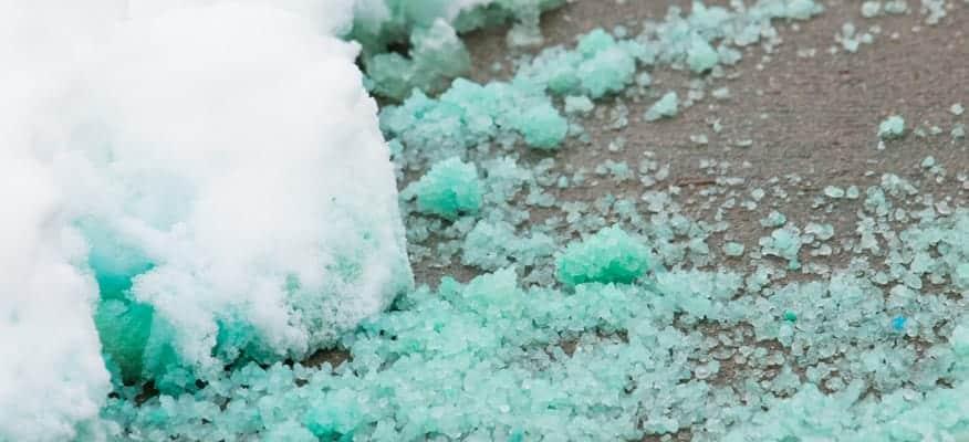 Ice Melt Salt on Sidewalk from Snow & Ice Salt & Chemicals Unlimited, LLC
