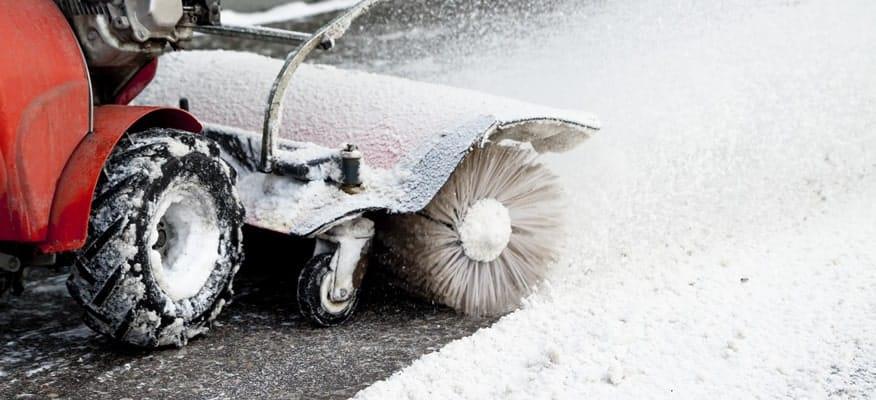 sidewalk snow brush