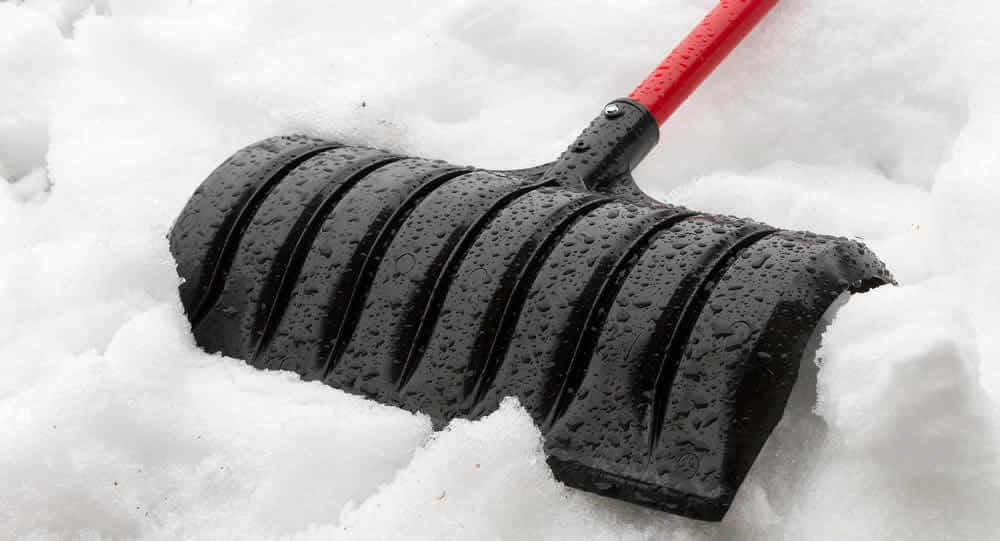 snow shovel - use with winter work gloves
